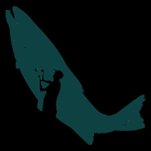 Fish fisherman rod illustration