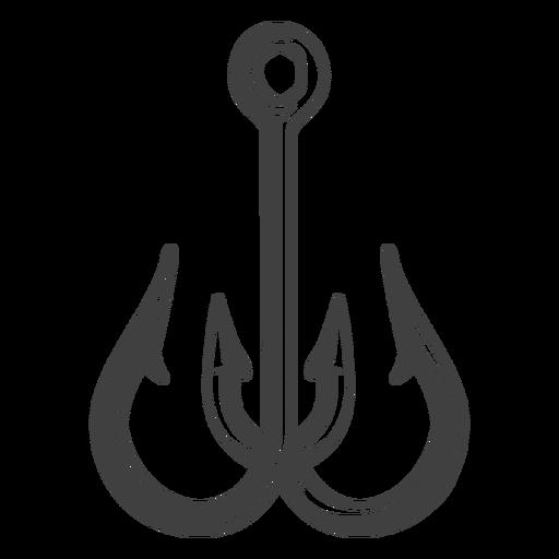 Fish hook illustration