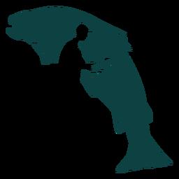 Ilustração de peixe vara pescador