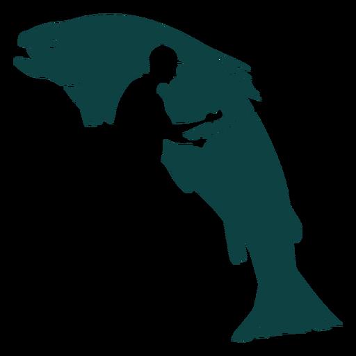 Fisherman rod fish illustration