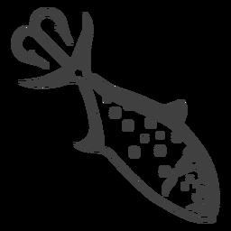 Ilustração de isca de pesca