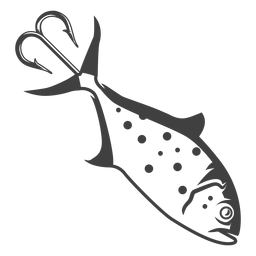 Ilustración de señuelo de cebo de pesca