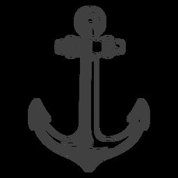 Ilustração de âncora de barco de pesca