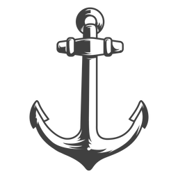 Ilustración de ancla de barco de pesca