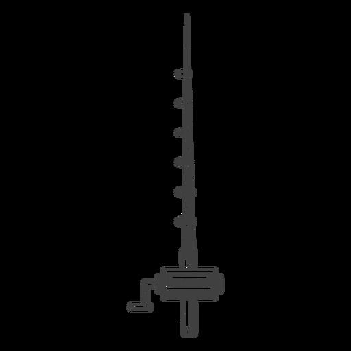 Ilustração de vara de pesca