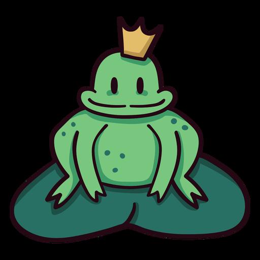 Trazo de icono colorido príncipe rana