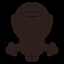Silueta plana de máscara de gas