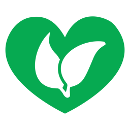 Green heart leaves icon