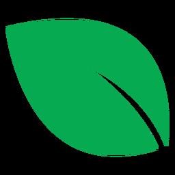 Ícone de folha verde grande