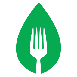 Green leaf fork icon