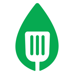 Green leaf spatula icon