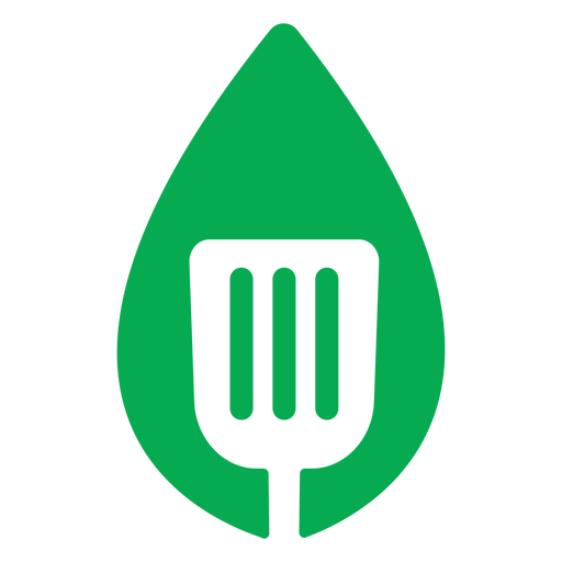 Green leaf spatula icon Transparent PNG