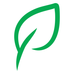 Green leaf vegan icon
