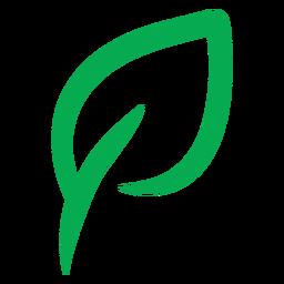 Ícone vegano de folha verde
