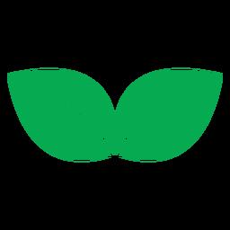 Icono verde de dos hojas