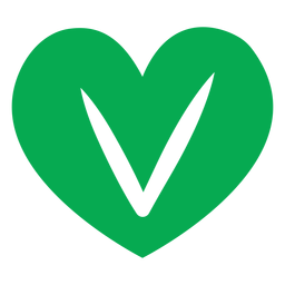 Green vegan heart icon