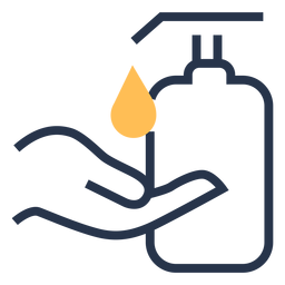 Hand liquid soap icon