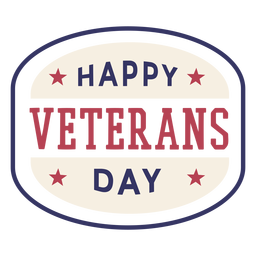 Happy veterans day badge