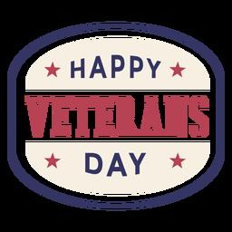 Insignia feliz del día de los veteranos