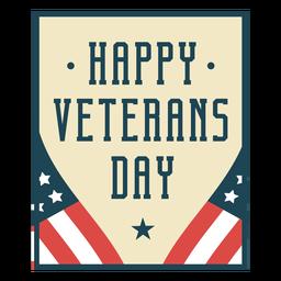 Feliz día de los veteranos plana