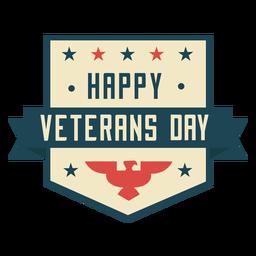 Feliz día de los veteranos plano colorido