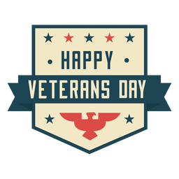 Feliz dia dos veteranos liso colorido