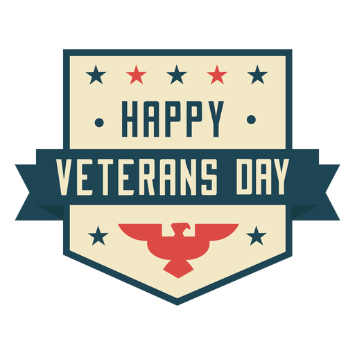 Happy veterans day flat colorful Transparent PNG