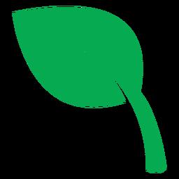 Ícone de folha verde de saúde