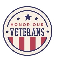 Honor our veterans badge