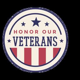 Honre nuestra insignia de veteranos