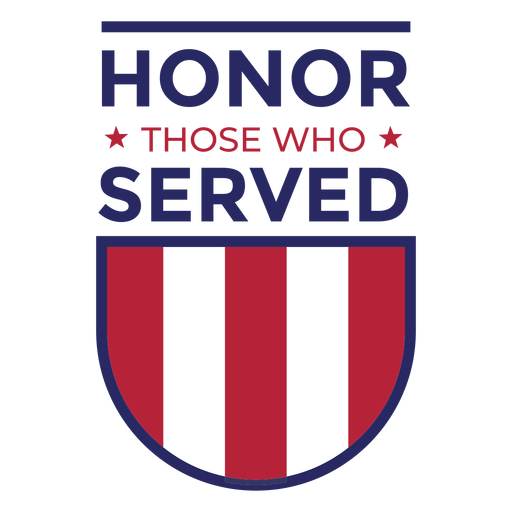 Honor those who served badge