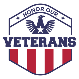 Honor veterans eagle badge