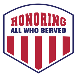 Honoring veterans badge