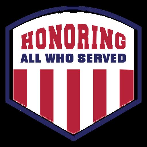 Honoring veterans badge