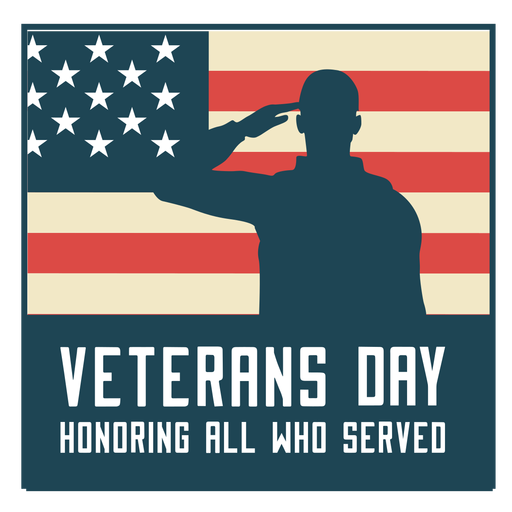 Honoring veterans day usa flag Transparent PNG