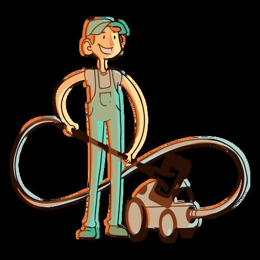 Hoover vacuum cleaner worker illustration Transparent PNG