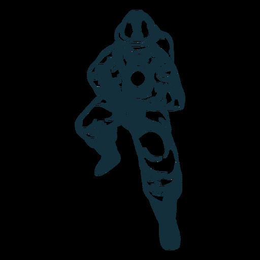 Hose ready firefighter illustration Transparent PNG