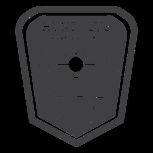 Insignia del país de los ciervos del club de caza Transparent PNG