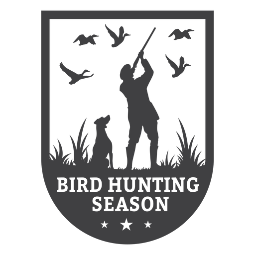 Hunting season birds badge Transparent PNG
