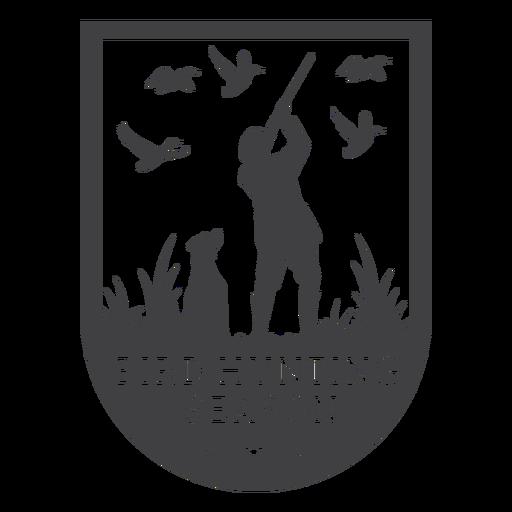 Hunting season birds badge
