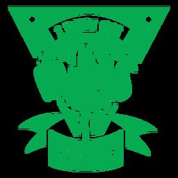 Corro en la insignia de plantas