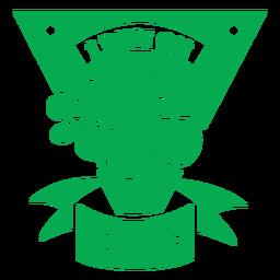 Corro en la insignia verde de verduras