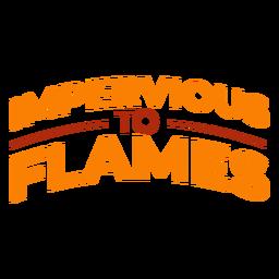 Cita impermeable a las llamas