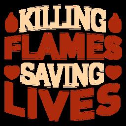 Cita de bombero matando llamas