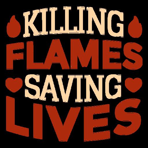 Cita de bombero matando llamas Transparent PNG