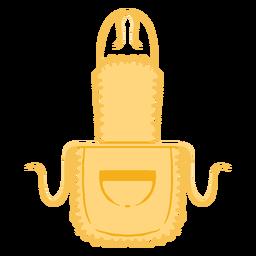 Delantal de cocina bolsillo plano