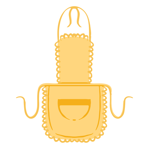 Kitchen apron pocket flat Transparent PNG