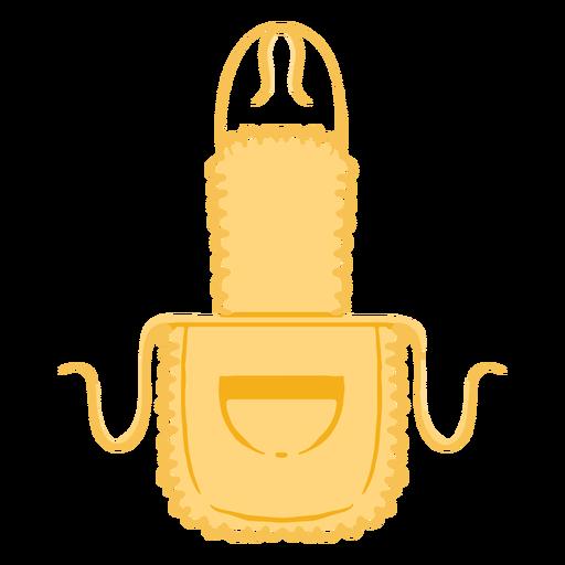 Kitchen apron pocket flat