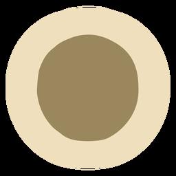 Plato de cocina colorido plano