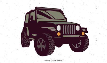 Ilustração de jipe Wrangler